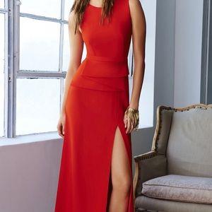 BCBG RED PROM/LONG DRESS